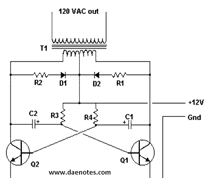 120vac schematic wiring inverter project 12v dc to 120v ac #13