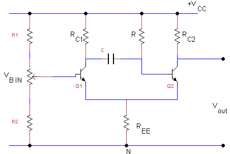 Monostable multivibrator - Working, Types and construction