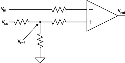 Inverting Pulse generator using IC comparator