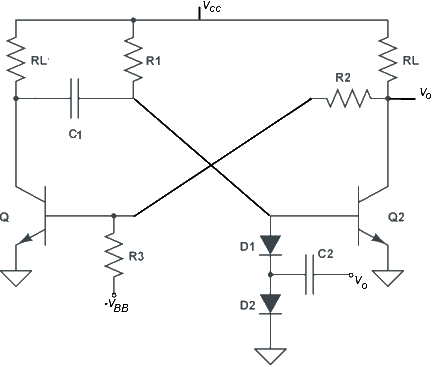 Monostable Multivibrator Delay Line Circuit