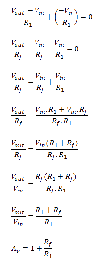 Non-Inverting Alternate Method Equation