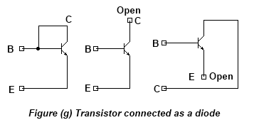 Transistor Connected As Diode